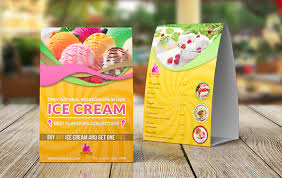 ice cream design table tent template