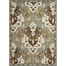 jaipur rugs barcelona hoja 9 x 12 indoor outdoor rug blue ivory