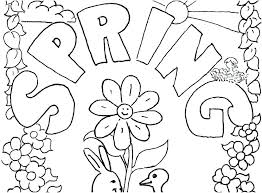 Free Printable Spring Coloring Sheets Children Coloring Free Spring