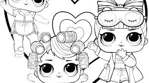 Lol Doll Coloring Pages To Print Free Sugar Luxe Baby Alive Related