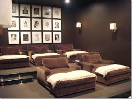 Dark Brown Paint Colors Gorgeous Chocolate Media Room With Intended For  Colours Design 13