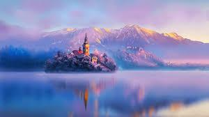 Digital artist Land Water Mountains ...