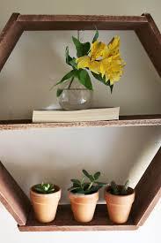 diy honeycomb shelves pots