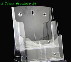 Acrylic Tiered Display Stands Clear A100 100 Tiers Plastic Acrylic Brochure Literature Pamphlet 66