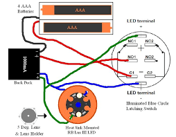 basic buck puck variant led wiring a latching illuminated switch