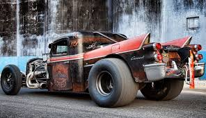 just a car guy rat rod with 50 s coronet tailfins cool look