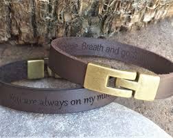 men engraved leather bracelet custom bracelet now from com