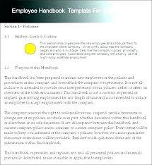 Sample Employee Handbook Manual Templates Free Premium Game For