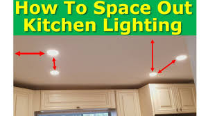 Kitchen Lighting Design Guide Kitchen Light Spacing Best Practices How To Properly Space Ceiling Lights
