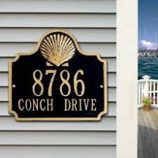 home address plaques. Scallop Shell Address Plaque Home Plaques