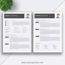 Creative Resume Template Cover Letter Word Modern Simple Teacher