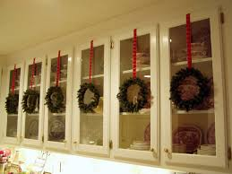 Christmas Decorations For Kitchen Kitchen Cabinets Decorated For Christmas Decorating Ideas
