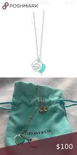 mini double heart tag pendant heart