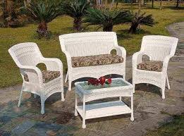 white plastic wicker outdoor patio furniture ideas fake within decor 14