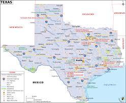 texas map map of texas (tx) usa