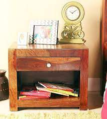 sheesham wood bed side table in
