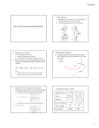 conic sections and parabolas nhv regional hs district pages 1 7 text version fliphtml5