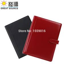 2019 great source leather portfolio compendium binders a4 file manager folder 4 rings binder a4 doent folder with calculator from livegold