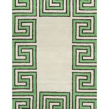 nuloom rick greek key hand tufted rug green