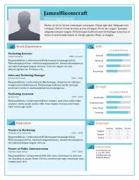 Visual Resume Templates Extraordinary 28 Infographic Resume Templates [Free Download]