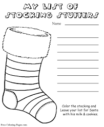 Christmas Coloring Paper Christmas Coloring Page Stocking Stuffer List