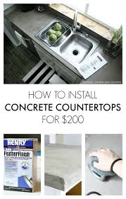 how to install faux concrete countertops using ardex feather finish entire kitchen costs her 200
