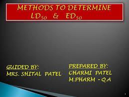Methods To Determine Ld50 Authorstream