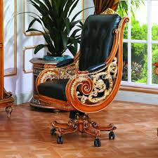 luxury office chairs leather. luxury french style genuine black leather office chairnew design baroque golden carved chair chairs a