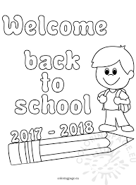 Small Picture 2017 2018 Back to school Coloring Page