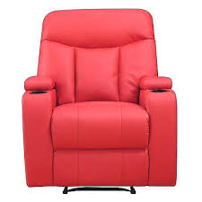 Red Synthetic Leather Recliner Chair With Cup Holder And Storage Intended  For Toddler Ireland Recliner With Cup Holder And Storage13