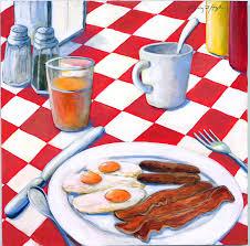 breakfast painting all american breakfast by gerry high