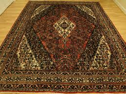 persian handmade wool mahal bidjar sarouk red black