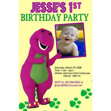 barney party invitation template barney photo invitations party invites