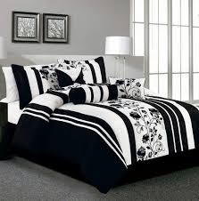 Black And White Striped Bedding Bedspread Comforter Floral ... & Black And White Striped Bedding Bedspread Comforter Floral Printing Triple  Leg Steel Stand Table Lamp Shade Branch Painting Square Frames Gray Wool  Bedroom Adamdwight.com
