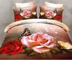 3d red rose bedding duvet cover set 3d fl bedding bed linen vintage rose bedding sets