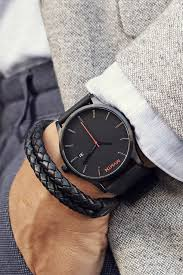 black black leather watches black black leather men watches