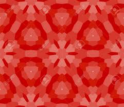 Design By Color Red Wallpaper Seamless Mosaic Floral Stained Glass Window Red Color Vector