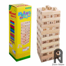 How To Play Tumbling Tower Wooden Block Game 100 Zorn Toys Jenga Giant Hardwood Game Family Board Game Wooden 69
