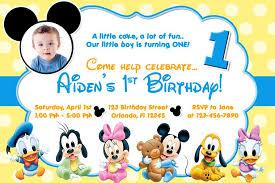 baby mickey mouse invitations birthday free printable baby mickey mouse 1st birthday invitations bajkaka
