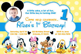 Free Printable Baby Mickey Mouse 1st Birthday Invitations Bajkaka