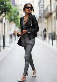 leather jacket women outfits