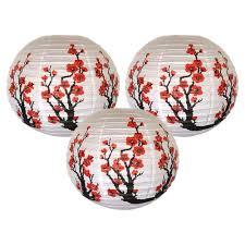 <b>3pcs</b>/lot Red Sakura <b>Paper</b> Lanterns 16inch <b>40cm</b> Chinese ...