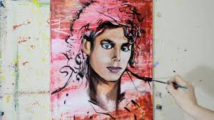painting a portrait of michael jackson contemporary pop art style you
