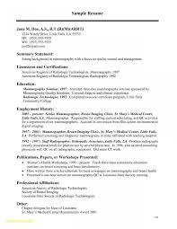 Sample Resume Objectives For Radiologic Technologist New 23