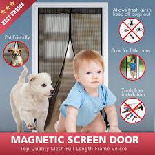 Bodyguard Magnetic Screen Door - Full Frame Velcro, Fits Door Size ...