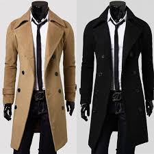 whole men s long dust coat luxury coats brief wind coat men trench coats woolen overcoat warm