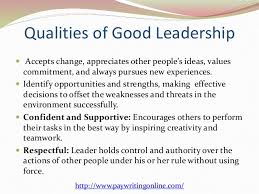 qualities of a great leader essay co qualities