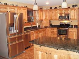 I Love The Hickory Cabinets With Darker Granite This Is The Look