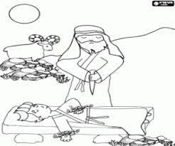 Kleurplaat Abraham En Het Offer Van Issac Kleurplaten