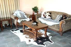 small cowhide rug small white